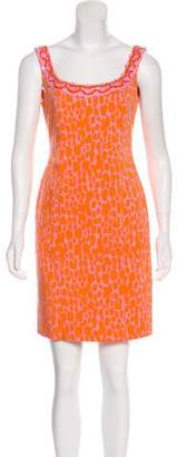 Blumarine Printed Bodycon Dress
