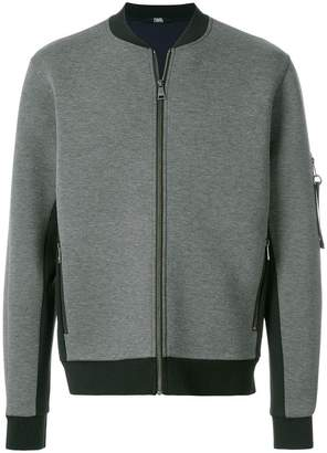 Karl Lagerfeld neoprene bomber jacket