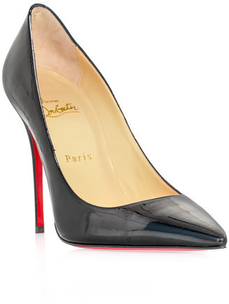 Christian Louboutin Decolette 100mm patent leather shoes