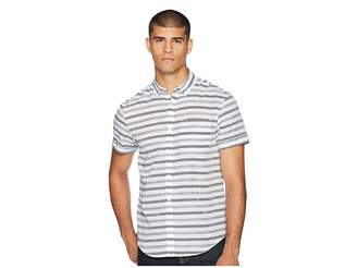 Original Penguin Short Sleeve Textured Lawn Based Striped Shirt