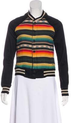 Mother Striped Print Casual Jacket
