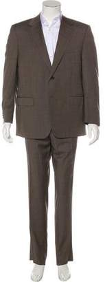 Canali Plaid Wool Two-Piece Suit w/ Tags