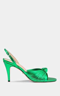 Gucci Women's Crawford Metallic Leather Slingback Sandals - Green