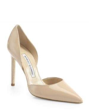 Manolo Blahnik Tayler Patent Leather d'Orsay Pumps