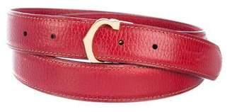 Cartier Logo Leather Belt