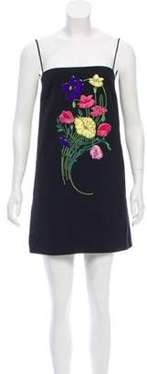 Christopher Kane Sleeveless Embroidered Dress