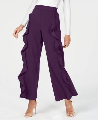 Bar III Ruffled Wide-Leg Pants, Created for Macy's