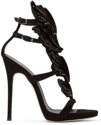 Giuseppe Zanotti Black Suede Cruel Sandals