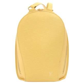 Louis Vuitton Vintage Ellipse Yellow Leather Backpacks