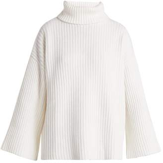 Allude Roll Neck Cashmere Sweater - Womens - Cream