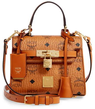 MCM Mini Heritage Visetos Coated Canvas Satchel