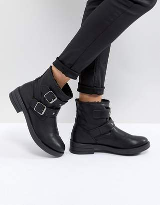 Asos DESIGN ACCENT Studded Biker Ankle Boots