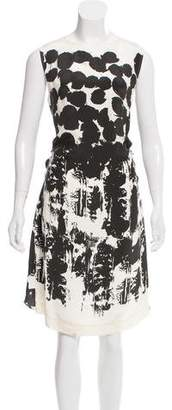 Cédric Charlier Printed Knee-Length Dress