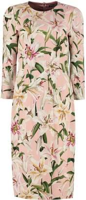 Dolce & Gabbana Lilium Print Sheath Dress