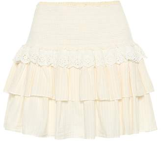 LoveShackFancy Dana cotton miniskirt