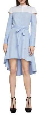BCBGMAXAZRIA Leandra Colorblock Hi-Lo Dress