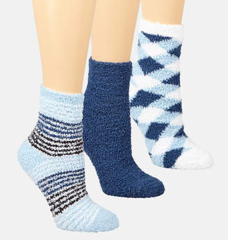 Avenue Blue Print Cozy Socks