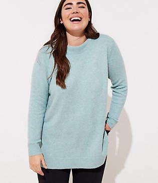 LOFT Plus Mock Neck Tunic Sweater