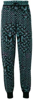 M Missoni blue patterned track pants