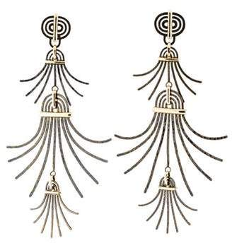 Lanvin Metallic Extra Long Earrings