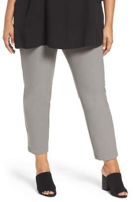 Eileen Fisher Slim Washable Stretch Crepe Ankle Pants