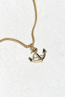Urban Outfitters Gold Anchor Pendant Necklace