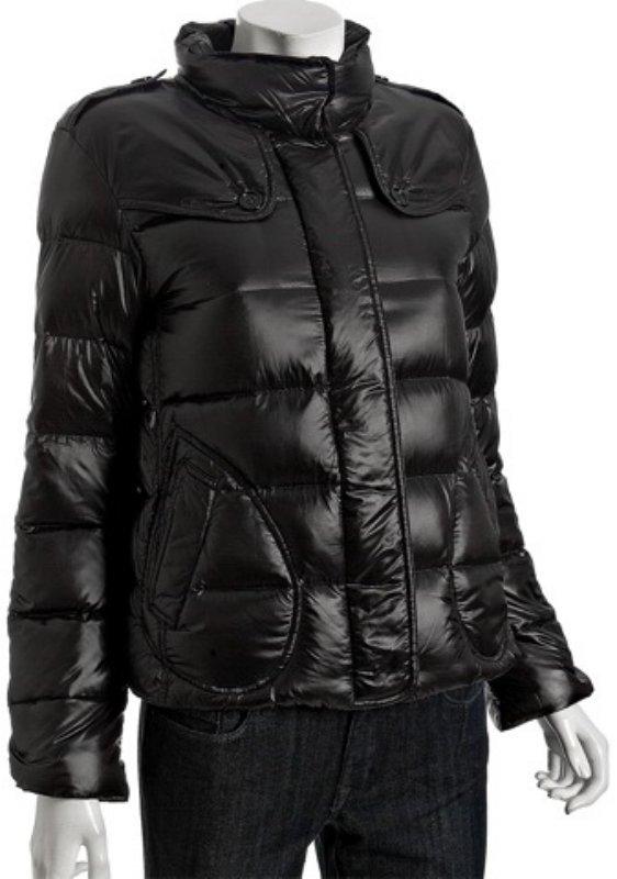 Burberry Burberry London black nylon down stand collar short jacket