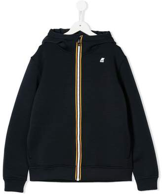 K Way Kids TEEN logo zipped hoodie