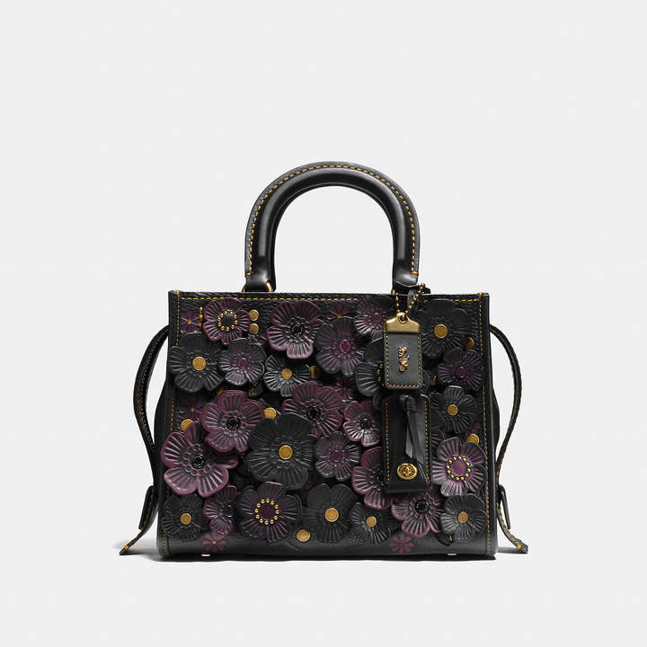 Coach   COACH Coach Rogue 25 With Tea Rose Applique