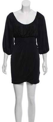 Black Halo Pleated Mini Dress