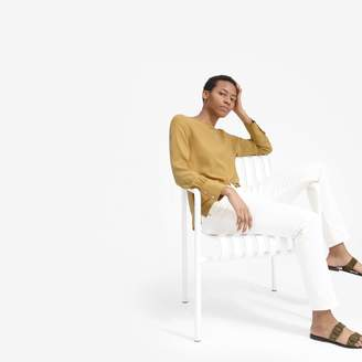 Everlane The Clean Silk Boatneck Blouse