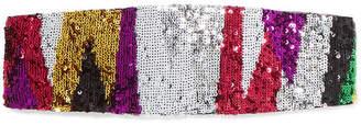 Missoni Sequined Crochet-knit Headband - Pink