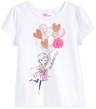 Epic Threads Mix and Match Birthday Girl Graphic-Print T-Shirt, Toddler & Little Girls (2T-6X), Only at Macy's $16 thestylecure.com