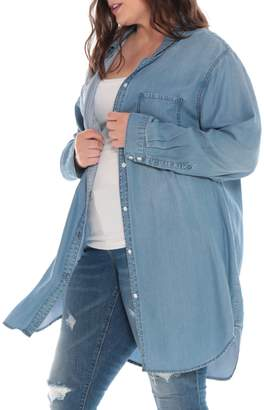 SLINK Jeans Button Down Tunic Shirt