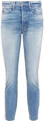 GRLFRND 'Karolina' stripe outseam jeans