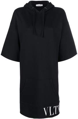 Valentino logo print hooded dress