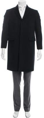 Burberry Velvet-Accented Virgin Wool Overcoat w/ Tags