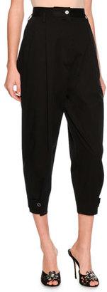 Dolce & Gabbana High-Waist Cropped Pants, Black $945 thestylecure.com