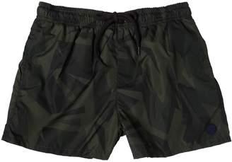 Fred Mello Camouflage Printed Nylon Swim Shorts