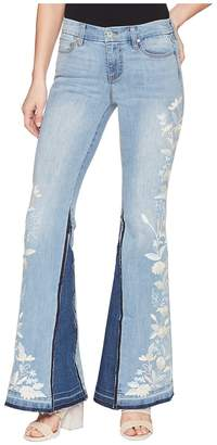 Liverpool LVPL by Farrah Super Flare with Embroidered in Vintage Super Comfort Stretch Denim in Beverly Wash Women's Jeans