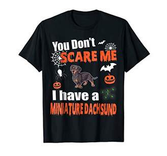 Mini A Ture Don't Scare Me I Have A Miniature Dachsund Halloween Shirt