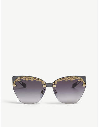 b73af6d48b Bvlgari Black Sunglasses For Women - ShopStyle UK