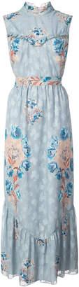 Anna Sui floral print maxi dress