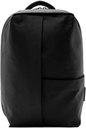 Côte and Ciel Black Coated Canvas Sormonne Backpack