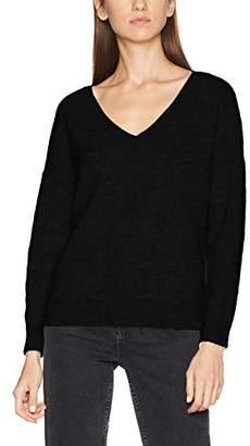 dfca39400a44 Women Black V Neck Knit Jumper - ShopStyle UK