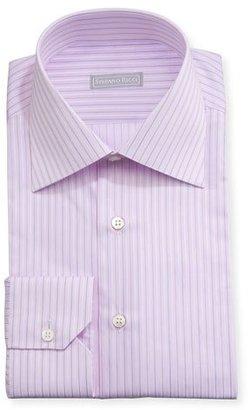 Stefano Ricci Striped Cotton Dress Shirt, Lavender $700 thestylecure.com