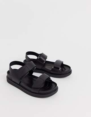 94b3d17cdc1 Vagabond erin black leather chunky sports sandals