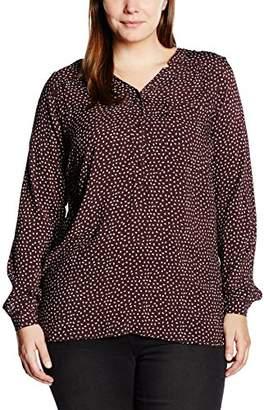 Zizzi Women's Regular Fit Long Sleeve Blouse - Black