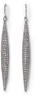 Vince Camuto Silvertone Pave Spear Earrings