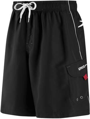 Speedo Big & Tall Marina Brushed Microfiber Volley Swim Shorts - Extended Size
